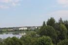 Вид на стройку со стороны Долгого озера